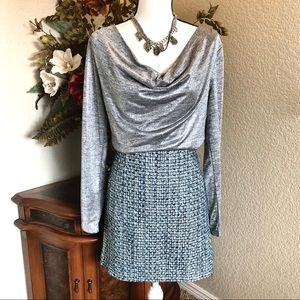 NWOT White House Black Market Tweed Skirt